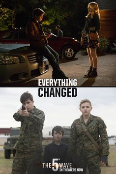 Before and after. Nothing will ever be the same again.   The 5th Wave is now in theaters, so click through to buy your tickets online! #5thWaveMovie