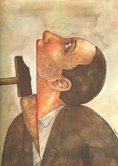 From the Book - Shut Up! Cartoons for Amnesty, published by Stallings Edited by Amnesty International. Lithograph by Roland Topor - French illustrator, painter, writer and filmmaker. The Art Of Storytelling, Amnesty International, Arte Horror, Inspiration Art, Expo, Surreal Art, Dark Fantasy, Dark Art, Art Drawings