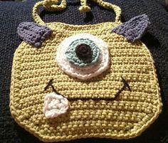 Monster baby bib by KitandaKreations on Etsy