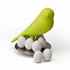 #Держатель магнитов Magnetic Egg Sparrow Qualy Зелёный