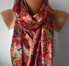 Women Scarf   Cowl with Lace  Multicolor by fatwoman,