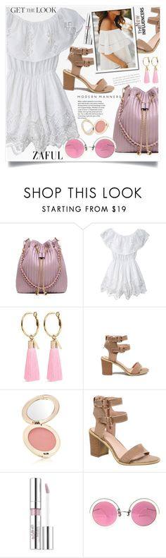 """""""Zaful 35"""" by lillili25 ❤ liked on Polyvore featuring Mignonne Gavigan, Jane Iredale, Estée Lauder and Christian Lacroix"""