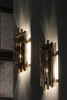 Brubeck has an extravagant shape full of refinement and modernity. This piece will wow everyone at M&O 2017.   http://www.delightfull.eu/en/heritage/wall/brubeck-fixture-sconce.php/