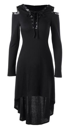 Gamiss 2017 Vestidos Autumn High Quality Hooded Dress Lace Up Cold Shoulder Casual A Line Solid Ladies Long Sleeves Midi Dress Dress Outfits, Fashion Outfits, Dress Fashion, Long Sleeve Midi Dress, Sleeve Dresses, Dress Long, Hooded Dress, Fashion Moda, Fashion Sale