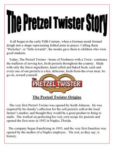 The Pretzel Twister Story