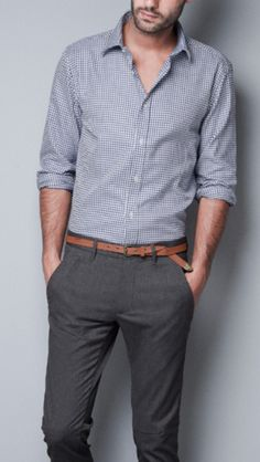 look awesome by wearing casual outfits Smart Casual Men, Business Casual Outfits, Stylish Men, Formal Shirts For Men, Men Formal, Houndstooth Shirt, Check Shirt Man, Formal Men Outfit, Men's Fashion