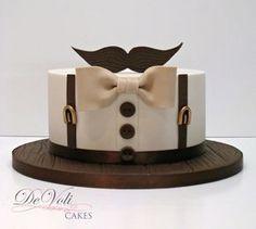 New Cake Art Fondant Ideas Ideas Fondant Cupcakes, Cupcake Cakes, Baking Cupcakes, Birthday Cakes For Men, Cake Birthday, Men Birthday, Birthday Games, Moustache Cake, Movember Mustache
