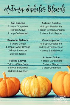 Need a pick-me-up? Or help getting things done? Or something to uplift your spirits? These autumn aromatherapy inhaler blends will put a little bit of fall warmth, happiness, and motivation in your pocket or purse. All the spicy fall aromas to take with you anywhere!   #fallinhalerblends #autumninhalerblends #essentialoilinhalerrecipes