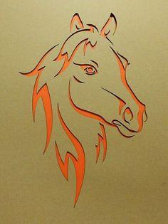 Pferdekopf lasergestanzt Pappkarton Horse head laser-cut cardboard Image Size: 1906 x 2551 Source Stencils, Stencil Art, Stencil Designs, Horse Head, Horse Art, Metal Art, Wood Art, Horse Stencil, Horse Pattern