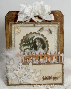 A christmas card using vintage image from Grandma's Attic ~ tinted