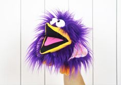 Bird Puppet  Interchangeable Parts by PipPopPuppets on Etsy