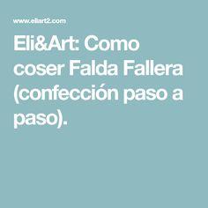 Como coser Falda Fallera (confección paso a paso).