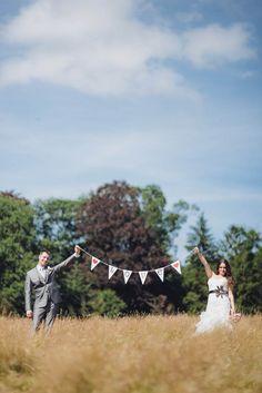 """Adorable """"love"""" bunting makes the perfect wedding photo prop!"""