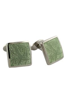 David Donahue 'Paisley Lime' Sterling Silver Cuff Links available at #Nordstrom 195