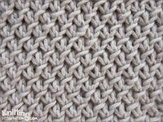 The Purl-Twist Fabric stitch | knittingstitchpatterns.co