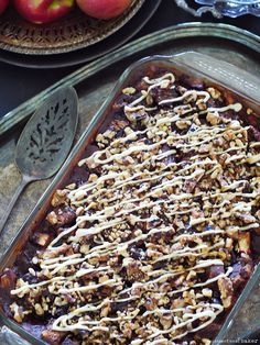 Apple Butter Bread Pudding (Free from: gluten, dairy, eggs, refined sugar, and oils. With grain-free & nut-free options)