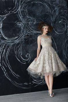 #Gorgeous - #Tulle #Bygone_Era #Retro #Floral #Silk #Taffeta #Appliqued and #Beaded #Gatsby #Style #WeddingDress dotted with #Swarovski #Crystals from #TracyReese. http://bit.ly/1iIISpJ  #BridesmaidDress #Bridal #Dress #Wedding #SwarovskiElements #ItsANiceDayForAWhiteWedding  http://instagram.com/p/paa3FngTFR/