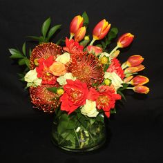 Beautiful Pincushion Protea Mixed Arrangement $125