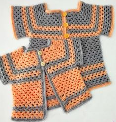 Lil Darlin Baby CardiganThis crochet pattern / tutorial is available for free... Full Post: Lil Darlin Baby Cardigan
