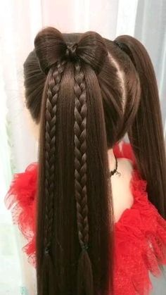 Hair Tutorials For Medium Hair, Easy Updos For Medium Hair, Bun Hairstyles For Long Hair, Braids For Long Hair, Braided Hairstyles, Viking Hairstyles, Indian Hairstyles, Front Hair Styles, Medium Hair Styles