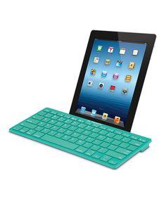 Cool, simple, teal Bluetooth keyboard.