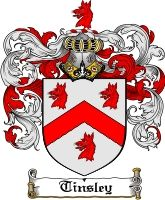 tinsley family coat of arms from  england | Tinsley Family Crest Tinsley Coat of Arms - Download Family Crests Blazon of arms: Argent of Chevron between 3 wolves' heads erased gules. Translation: The wolf denotes one who strives long and hard to achieve his objectives. The chevron is a symbol of protection. It is held to represent the roof-tree of a building and may have been granted to one who had built a church or fortress. The coat of arms was in existence since the 13th century