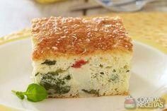 Receita de Torta de liquidificador de palmito e espinafre em receitas de tortas salgadas, veja essa e outras receitas aqui!