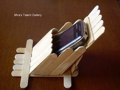 Mira's Talent Gallery @ My Hobby Lounge: Stand to keep mobile - Popsicle / Ice stick craft