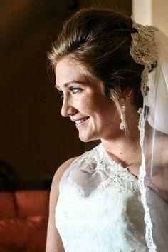 Bride hair french twist modern