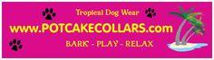 Supplier of island Bahama Hawaiian Tropical dog collars, hawaiian bandanas, dog leashes, dog accessories,and dog toys. Dog Wear, Dog Collars, Dog Accessories, Dog Toys, Tropical, Bear, Rock, Skirt, Bears
