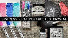 Tim Holtz Stamps, Colouring Techniques, Distress Ink, Video Tutorials, Crayons, Ranger, Frost, Mixed Media, Coloring
