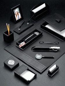 Black Desk Accessories Set
