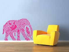 Hey, I found this really awesome Etsy listing at https://www.etsy.com/listing/188803822/indian-elephant-wall-decals-floral