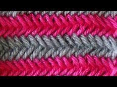 Cómo Tejer Punto Cruzado en Colores-Cross Stitch 2 Agujas (275) - YouTube