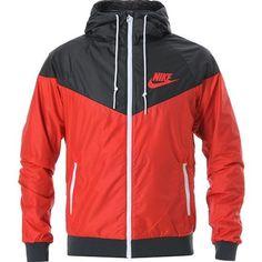 42df25f292ea5 Red Nike Sweater, Red Hoodie, Hoodie Jacket, Nike Hoodie, Nike Windbreaker  Mens