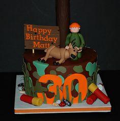 Deer Hunter Birthday Cake by cjmjcrlm (Rebecca), via Flickr