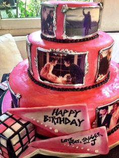 Cool cake... has real photos