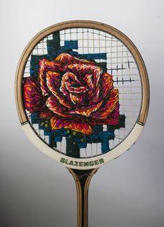 Sew Far, Sew Good: I Embroider On Old Tennis Rackets   Bored Panda