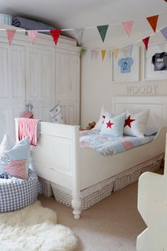 A little boys room but it looks like a place I would love to curl up and sleep in!