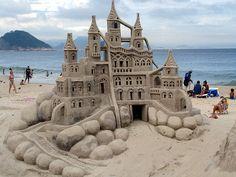 Escultura na areia, trabalhos de arte.