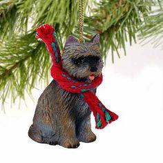 1 X Cairn Terrier Miniature Dog Ornament
