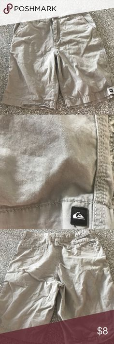 Quiksilver Shorts Size 29 Good condition. They are wrinkled. Minor fading.  No rips, whole or stains.  Size 29. My boys love the surf brands, make sure you check my other men's and boys clothing. My boys range from 21yrs-6yrs. So I have all sizes. Quiksilver Shorts