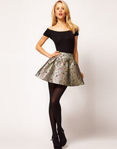 Enlarge ASOS Mini Skirt In Metallic Jacquard    ADORE this whole Baroque thing. AMAZING. And this skirt- aaah dying.