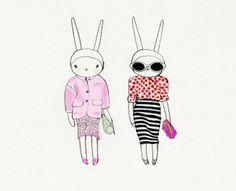 Fifi Lapin wears Burberry