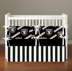 Oakland Raiders  Oakland Raiders Theme Nursery Decor by flashybaby