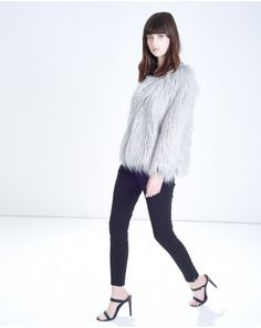Buy the latest Women's Designer Fashion at Atterley with hundreds of luxury boutique designer brands including dresses, coats, shoes & accessories. Grey Faux Fur Coat, Fake Fur, Boutique Design, Normcore, Turtle Neck, Sweaters, How To Wear, Fashion Design, Clothes