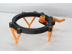 I created a new and improved version of this turntable. The new version uses an Arduino Uno, stepper motor, 1602 LCD screen and a servo motor. 3d Printer Designs, 3d Printer Projects, Craft Projects, Exposure Calculator, Useful 3d Prints, Camera Slider, Diy 3d, 3d Printing Diy, 3d Printed Objects