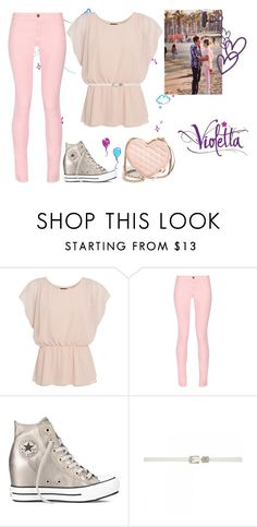 """Violetta 3: Supercreativa"" by stylewiktoria ❤ liked on Polyvore featuring Ultimo, Maison Kitsuné, Converse, Forever New, ANNA and Rebecca Minkoff"