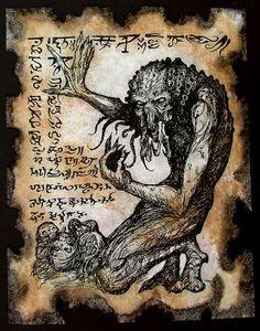 INENARRABLE monstruo Cthulhu larp fragmento del por zarono en Etsy