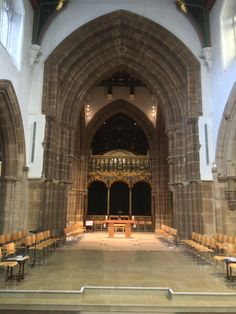 March 2015: The interior of Leicester Cathedral is readied for the reburial of Richard III